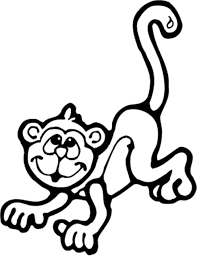 Small Picture Funny monkey coloring pages with banana ColoringStar