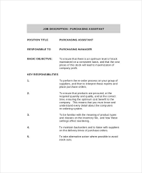 Purchasing Manager Job Description. Purchasing Manager Executive Job ...