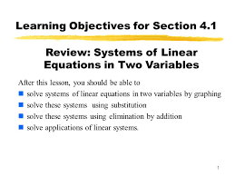 learning objectives for section 4 1
