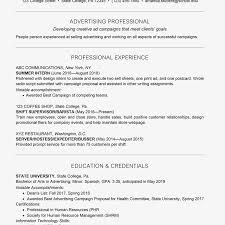 listing education on resume examples college student resume example