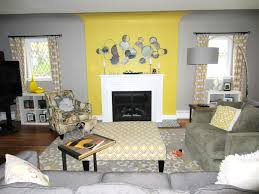 Yellow Living Room Decor Living Room Gray Recliners Brown Chairs Gray Sofa White Shelves