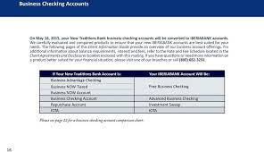 Business Checking Account Comparison Chart Client Information Guide Important Information About Your