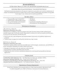 Industrial Electrician Resume Sample Industrial Maintenance ...