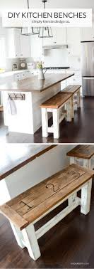 check out the tutorial on how to make a diy kitchen bench