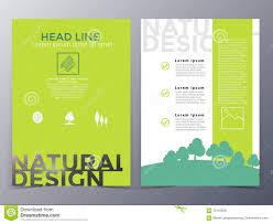 Creative Brochure Design Vector Free Download Business And Nature Brochure Design Template Vector Stock