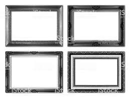 black antique picture frames. Black Antique Picture Frames. Isolated On White Background Royalty-free  Stock Photo Frames S