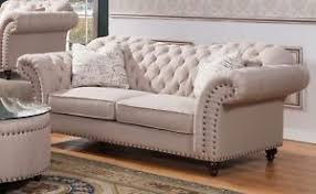 beige tufted sofa. Simple Beige Image Is Loading WaltonTraditionalSweetheartButtonTuftedSofaInBeige Throughout Beige Tufted Sofa H