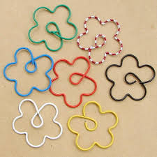 Flower Paper Clips Promotion Free Shipping P054 Colorful Wintersweet Flower