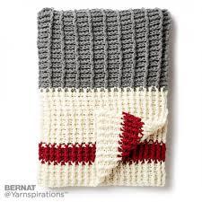 lumberjack crochet throw