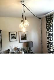 plug in pendant lights unique chandelier plug in modern hanging within hanging pendant lights ideas how
