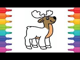 Small Picture ANIMALS HOW TO DRAW A DEER COLORING PAGES YouTube