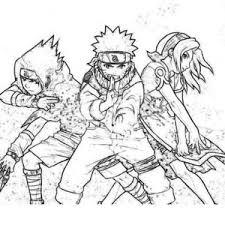 Sasuke Naruto And Sakura In Naruto Coloring Page Sasuke Naruto Vs