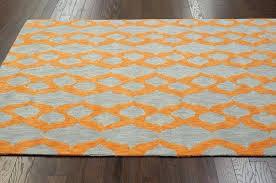 modern orange rug modern contemporary blue grey yellow orange hand hooked area rug carpet cotton modern modern orange rug