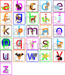lowercase abcs alphabets nursery wall decal with animals