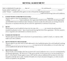 Blank Rental Lease House Lease Agreement Format Lease Agreement For House House Rental