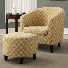 living room chairs with ottomans. minimalist living room furniture idea burnt yellow circular fabric accent chair ottoman brown varnished wood side chairs with ottomans n