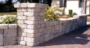 old manor pillar retaining wall block