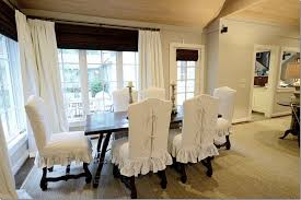 image of white dining room chair slip covers ideas