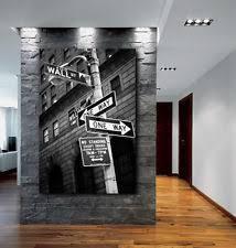 wall street office decor. Wall Street Sign New York City Canvas Fine Art Poster Print Home Decor Office F
