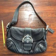 Coach Bags - Authentic coach Soho black buckle flap hobo purse
