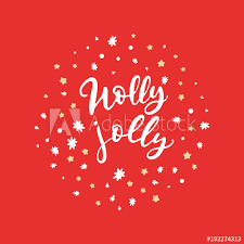 Calligraphy Backgrounds Vector Holly Jolly Hand Lettering Holiday Cards With Hand