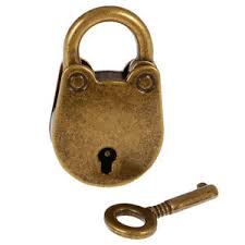 Padlock Size Chart Bronze Antique Style Cute Pig Lock Travel Luggage Small