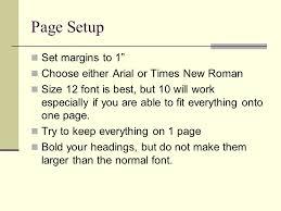 How To Write A Resume Mrs Frnka English Iv Page Setup Set Margins