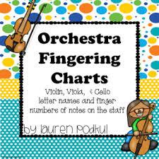 Violin Viola And Cello Fingering Chart
