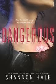 cover for dangerous by shannon hale a close crop of a s chest neck