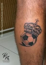 Football With Crown Tattoo