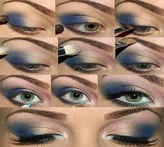 how to put on eye makeup