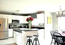 white kitchen remodel with cabinets black and red accents galley accent rugs ca red accent decor kitchen accents with yellow ideas blue rugs