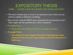 la week thesis statements <br > 11