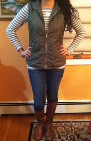 Quilted vest and riding boots, cute fall outfit | My style ... & Quilted vest and riding boots, cute fall outfit Adamdwight.com