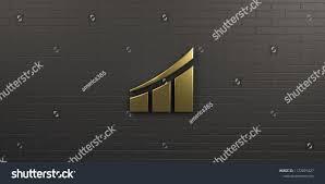 3d Stock Chart Finance Gold Growth Bar Graph 3d Render Illustration