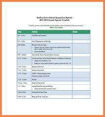 9+ Excel Agenda Templates   Corpus Beat