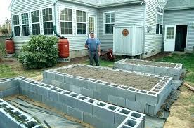 concrete raised garden beds block bed frame planting gardening pt 1 concrete raised garden beds