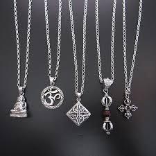 mens necklaces silver necklaces ebaded bracelets cross silver necklace buddha necklace