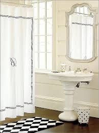 bay window curtain rods bed bath and beyond lovely extra long linen shower curtain tags hotel collection