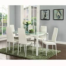 image unavailable image not available for color ids 7 pieces modern gl dining table set