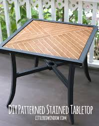 patterned stained tabletop