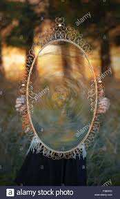 hand holding antique mirror. Brilliant Mirror Girl Holding A Big Antique Mirror In The Forest Portal To Another Little  Girls Hands Guy Throughout Hand