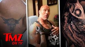 The Rock Evolves His Infamous Bull Tattoo Tmz Tv