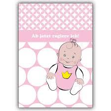 Babykarte Glückwunsch Zur Geburt Für Süße Baby Mädchen Ab Jetzt