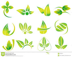 Designs Made From Leaves Vector Green Leaves Flowers Ecology Icons Health