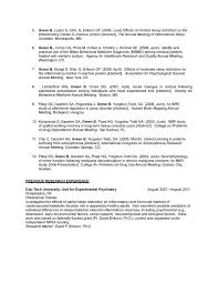 Resume For Behavioral Science Clinical Psychology Science Cv