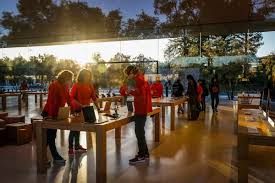 3of9apple employees declined names as they work at the apple visitors center in cupertino calif on monday nov 27 2017