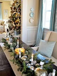 christmas dining room table centerpieces. Dining Room, Long Wooden Room Table Centerpiece With Cream Sofa Plus Christmas Theme Decoration Centerpieces O