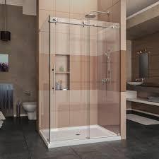 dreamline enigma x 48 375 in x 76 in frameless corner sliding shower enclosure
