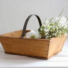 rustic french wooden trug sold